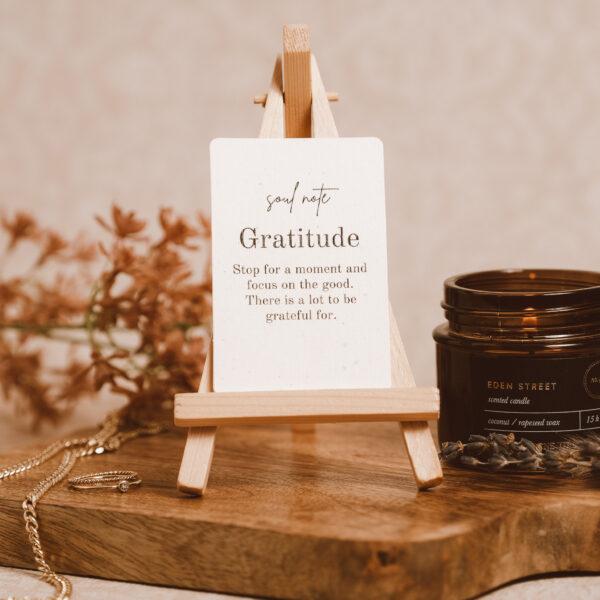 Soul note Gratitude